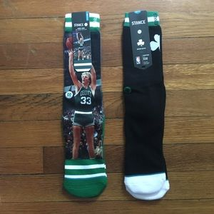 Two Pairs Stance Boston Celtics Larry Bird Socks